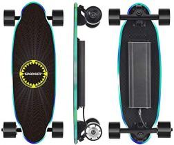 SPADGER Monopatín Skateboard Eléctrico con Motor de Control Remoto de 250 Vatios