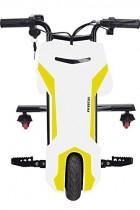 Triciclo ELECTRICO Crazy Bike Sup INFINITON blanco y amarillo