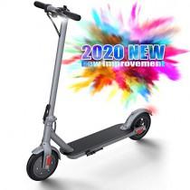 ubetter Scooter Eléctrico, Patinete Eléctrico Plegable Adulto con Alcance de 20 Km, 25km/h -X9 gris