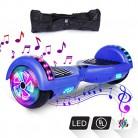 VEVEpower Patinete Eléctrico 6,5″ Hoverboard, Potente batería de Litio 300W*2 azul