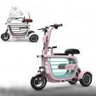 WLY Bicicleta eléctrica Plegable de Tres Ruedas para Adultos 48V20A Scooter eléctrico rosa