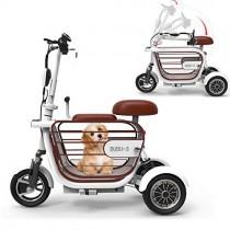 WLY Bicicleta eléctrica Plegable de Tres Ruedas para Adultos 48V20A Scooter eléctrico